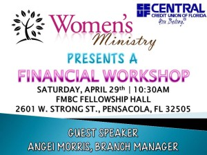 Women's Ministry Financial Wkshp